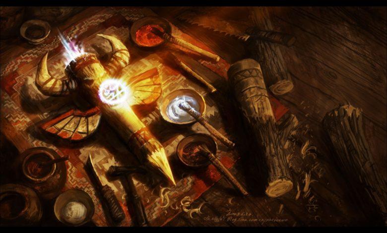 şaman ayin aletleri